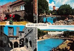 Cartolina Viterbo Vedute Piscina 1988 - Viterbo