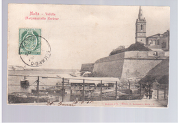 MALTA Valletta Marsamuscetto Harbour 1905 Old Postcard - Malta