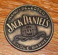 Jeton Publicitaire Uniface Bourbon Jack Daniel's Etats-Unis - Boisson - Whisky Token - Alcool - Tonneau - Profesionales/De Sociedad