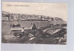 MALTA Interior Grand Harbour Ca  1920 Old Postcard - Malta