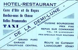 Vers 1950 HOTEL RESTAURANT DE LA DEMI LUNE ROUTE DE CATENOY A LIANCOURT - Liancourt