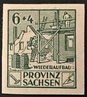 1946 Provinz Sachsen : Wiederaufbau Mit Plattenfehler IV Mi.87 B IV**) - Soviet Zone