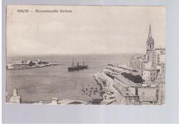 MALTA Valletta Marsamuscetto Harbour Ca 1920 Old Postcard - Malta