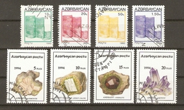 Azerbaïdjan - Monument - Minéraux - Petit Lot De 2 Séries Courantes° -  83/6 136/9 - Vrac (max 999 Timbres)