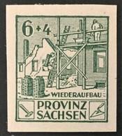 1946 Provinz Sachsen : Wiederaufbau Mit Plattenfehler VII Mi.87 B VII**) - Soviet Zone