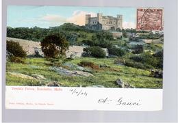 MALTA Boschetto - Verdala Palace 1904 Old Postcard - Malta