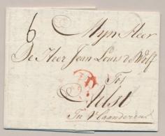 Nederland / België - 1789 - Complete EO Vouwbrief Van Amsterdam Met H In Cirkel Naar Aalst - Pays-Bas