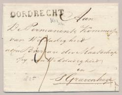 Nederland - 1825 - Omslag Van DORDRECHT Naar Den Haag - ...-1852 Préphilatélie