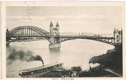 Feldpost-AK Bonn, Rheinbrücke 1918 Sw - Bonn