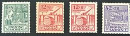 1946 Provinz Sachsen : Wiederaufbau Satz**) Mi. 87 A, 88 Aa, 88 Ab, 89 A - Zona Sovietica