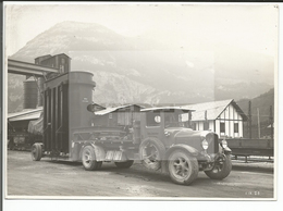 Suisse, Kraftwerke Oberhasli, Innertkirchen, Transport Transformator, Rail, Camion SAURER Gebr. Imboden Interlaken (503) - Lugares