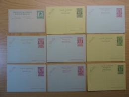 Belgisch Congo / Ruanda - Set Van 9 Briefkaarten (waarvan 6 Stuks Ruanda) - Ongebruikt - Ganzsachen