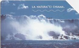 USATA--1637-TELECOM ITALIA-LA NATURA CI CHIAMA-CASCATA DEL NIAGARA - Mountains