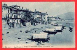 [DC6128] CPA - LAGO MAGGIORE - ISOLA DEI PESCATORI - ANIMATA - PERFETTA - Viaggiata 1914 - Old Postcard - Verbania