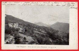 [DC6129] CPA - LAGO MAGGIORE - PIAN QUAGIE' SOPRA PREMENO - Viaggiata 1908 - Old Postcard - Verbania