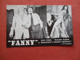 Fanny Broadway  Biggest Musical Majestic Theatre  44th Street NY   Ref 4092 - Other