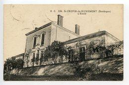 Saint Crépin De Richemont L'école - France