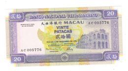Macau 20 Patacas 1996, UNC - Macau