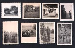 14 REAL PHOTOS DEUTSCHLAND GERMANY WHERMACHT LUFTWAFFE - TRUCKS LASTWAGEN SOLDIERS GUNS WEAPONS 1940-1945 - Guerra, Militares