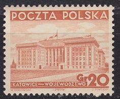 POLEN POLAND [1937] MiNr 0318 ( **/mnh ) Bauwerke - Unused Stamps