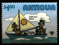 ANTIGUA ET BARBUDA  CHIP AND DALE ** MNH Voile Bateau Yacht Bateau Dériveur Sailing Boat Dinghy Segeln Boot Schi [ai96] - Voile