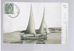 MALTA Gozo Boat 1905 Old Postcard - Malta