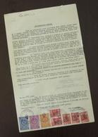Serbia 1947 Serbia JUDICIAL Revenues On Document B1 - 1945-1992 République Fédérative Populaire De Yougoslavie