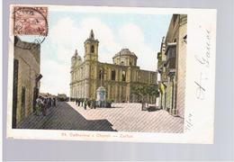 MALTA St. Catherine's Church - Zeitun 1904 Old Postcard - Malta