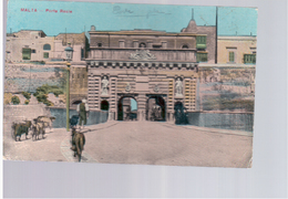 MALTA Porta Reale 1913 Old Postcard - Malta