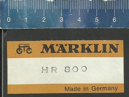 ETIKETT FÜR MÄRKLIN HR 800 KARTONS - Ferromodellismo