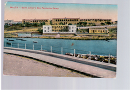 MALTA Saint Julian's Bay Pembroke Camp 1916 Old Postcard - Malta