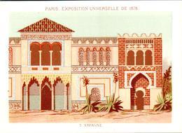 2 Chromos Exposition Universelle Paris 1878 : Pavillon Suède Et Norvège Et L'Espagne - Other