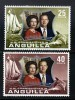 ANGUILLA - 1972 QE2 SILVER WEDDING SET (2V) FINE MNH ** SG 145-146 - Anguilla (1968-...)