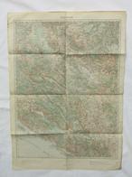 VINTAGE WW1  K.u.K. MAP RAGUSA / DUBROVNIK, CROATIA AUSTRIA HUNGARY, Year 1914 - Mapas Topográficas