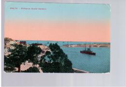MALTA Entrance Grand Harbour 1915 Old Postcard - Malta
