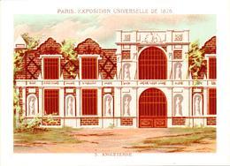 2 Chromos Exposition Universelle Paris 1878 : Pavillon Angleterre Et Palais Du Champ De Mars - Other