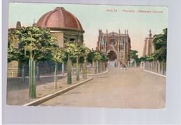 MALTA Wesleyan Church - Floriana Ca 1915 Old Postcard - Malta