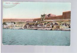 MALTA Fort Ricasoli Ca 1915 Old Postcard - Malta
