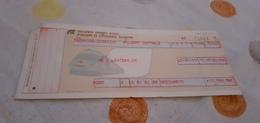 BIGLIETTO TRENO DA TAORMINA GIARDINI A PALERMO CENTRALE 1989 - Treni