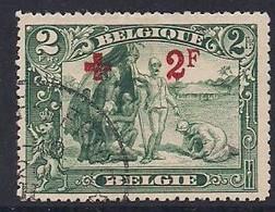 Belgie Belgique 1918 OCBn° 161 (°) Oblitéré Cancelled  Cote 120 Euro Congo Surcharge + 2 F - 1918 Red Cross