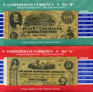 BANCONOTE STATI UNITI Confederate Currency (RIPRODUZIONI)// 12 BANCONOTE 1862-64 - Confederate Currency (1861-1864)