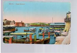 MALTA Grand Harbour Ca 1915 Old Postcard - Malta