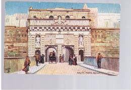 MALTA Porta Reale Ca 1915 Old Postcard - Malta