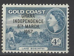 Ghana - 1957 - Nuovo/new MNH - Overprint - Mi N. 11 - Ghana (1957-...)