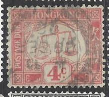 Hong Kong - 1924 - Usato/used - Segnatasse - Mi N. 3 - Hong Kong (...-1997)