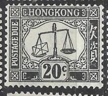 Hong Kong - 1938/63 - Nuovo/new MH - Segnatasse - Mi N. 11 - Hong Kong (...-1997)