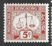 Hong Kong - 1965 - Nuovo/new MNH - Segnatasse - Mi N. 14 - Hong Kong (...-1997)