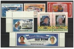 Montserrat - 1985 - Nuovo/new MNH - Caribbean Royal Visit - Mi N. 590/96 - Montserrat