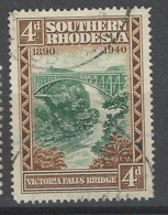 Southern Rhodesia - 1940 - Usato/used - Victoria Falls Bridge - Mi N. 60 - Rhodesia Del Sud (...-1964)
