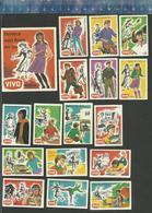 VIVO - TIENERS VAN TOEN EN NU  1966 Matchbox Labels THE NETHERLANDS - Matchbox Labels